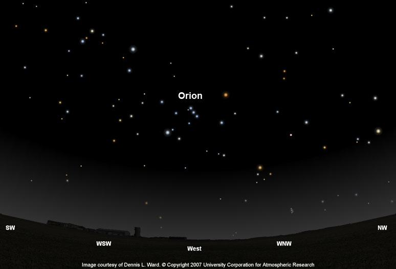 Orion Finder Chart 0 degrees latitude