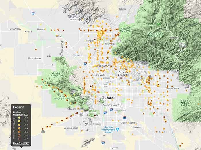 Map of Tucson data from 2015