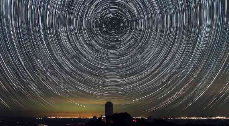 Star Trails over Kitt Peak