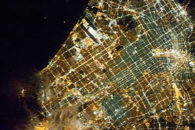 Los Angeles from th ISS